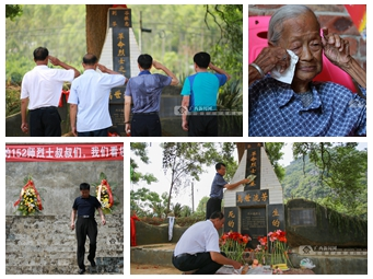 高清:武鸣一家三代守护烈士墓 67年后重叙鱼水情