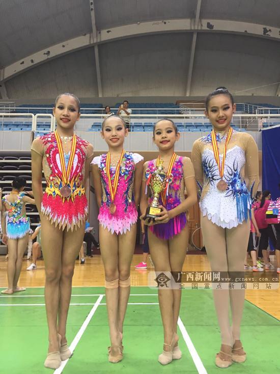 2017全国青少年艺术体操锦标赛:广西队成绩不俗