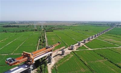 建设中的吴忠至中卫城际铁路
