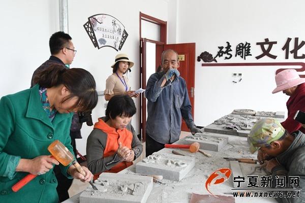 全国网络媒体记者点赞魏氏砖雕