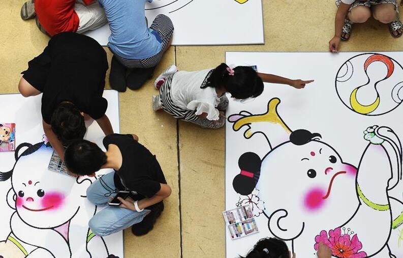 天津市青少年儿童迎全运书画作品展举行