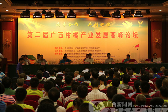 第二届广西柑橘产业发展高峰论坛在南宁举办