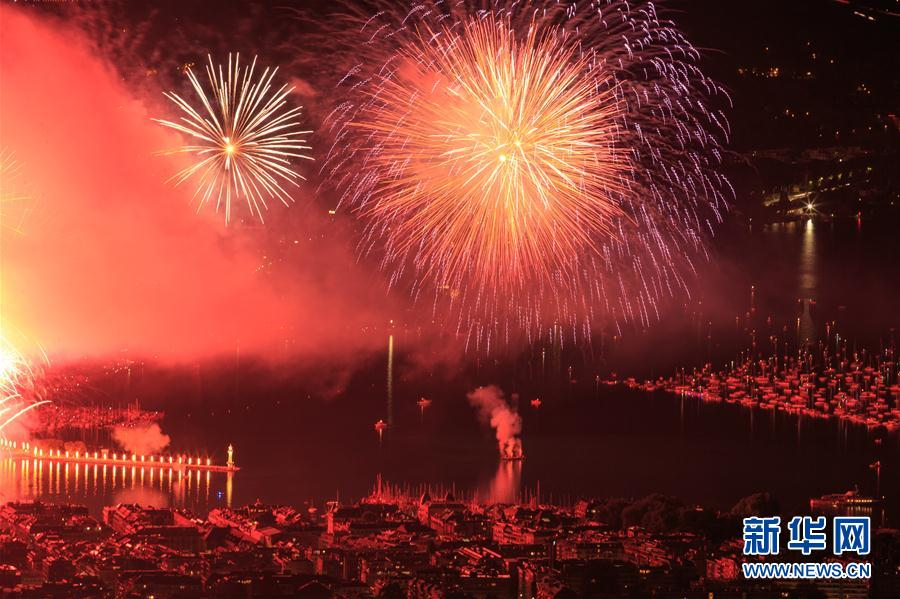 (国际)(3)瑞士日内瓦节举办焰火表演