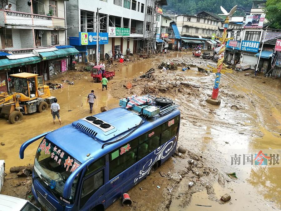 柳州融水杆洞乡遭山洪袭击 未造成人员被困和伤亡