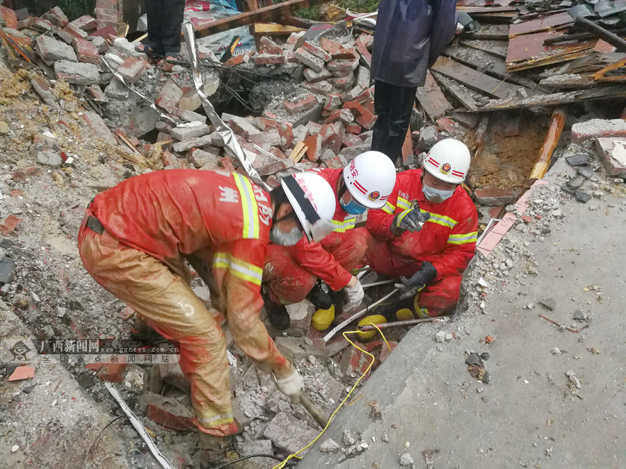 高清:融安遭强降雨袭击发生山体滑坡 三人失踪