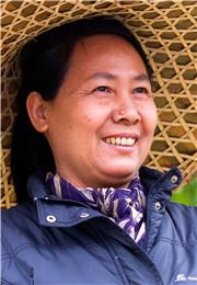 卖竹笠的妇女