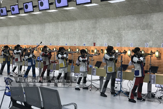 广西体校首秀全国青少年射击锦标赛 摘获女团铜牌