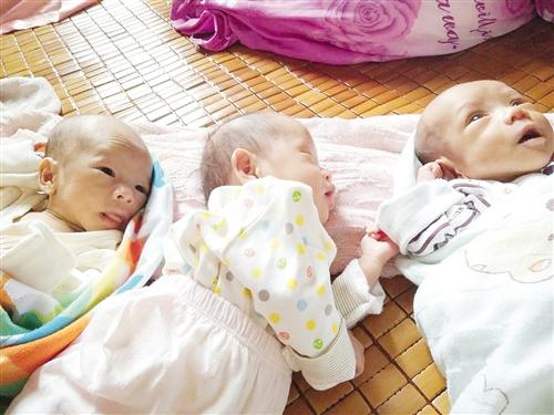 南宁市二胎妈妈求帮助 二胎生下三胞胎生活难维持