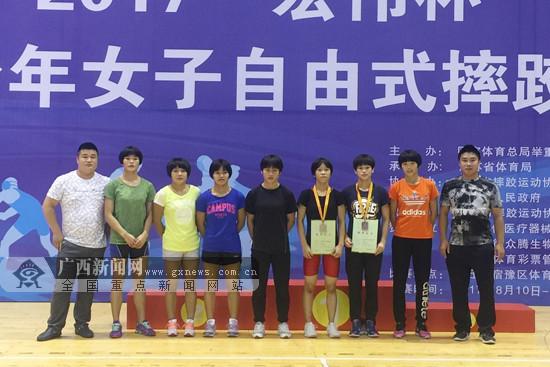 2017全国少年女子自由式摔跤锦标赛 广西获1银1铜