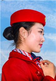 上岗前的空姐