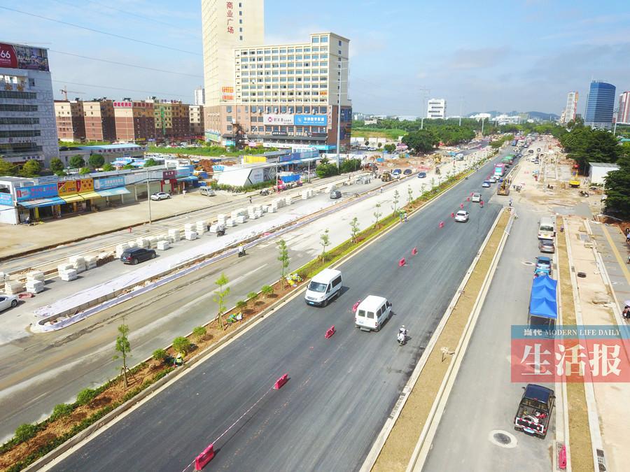 8月19日焦点图:南宁轨道交通1号线西段道路月底通车