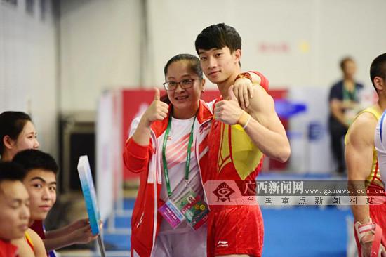 天津全运会体操比赛:广西男团获第五名 晋级决赛