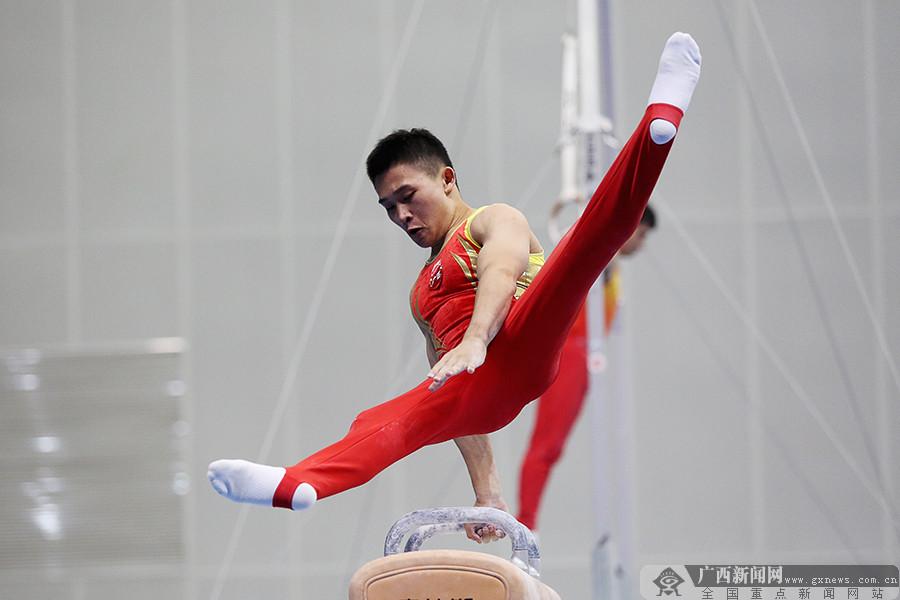 高清:广西体操男团全运会收获第五名