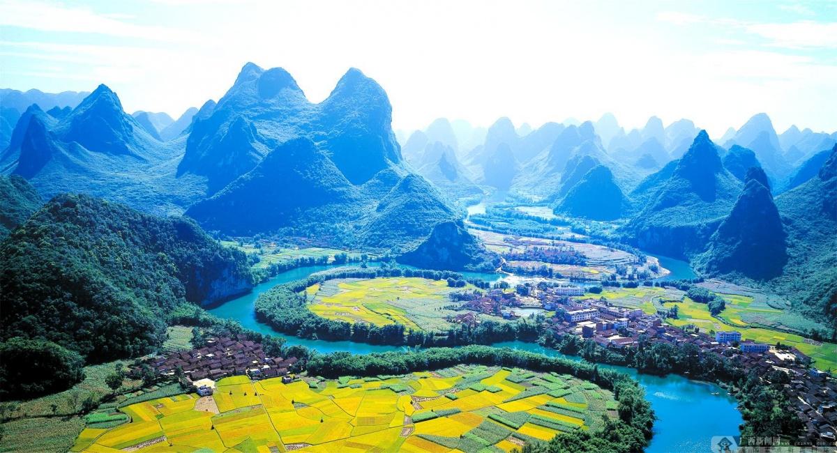 广西山水背景素材