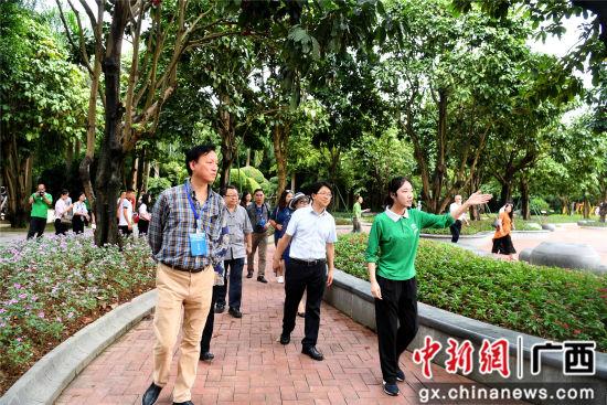 9月4日,海外华文媒体记者走进青秀山风景区兰园。