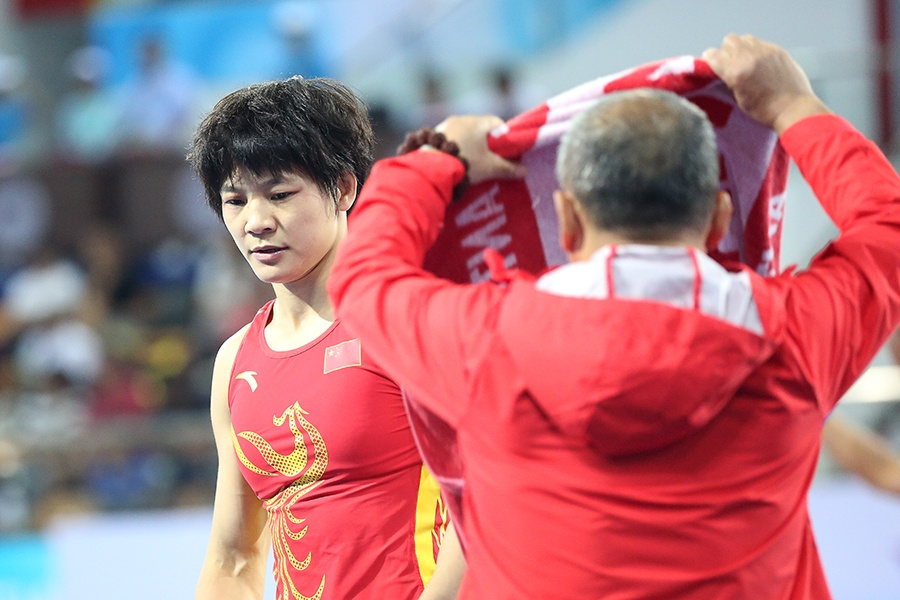 钟雪纯无缘全运会女子自由式摔跤53Kg级比赛奖牌