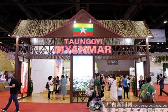 【动图视觉】在缅甸东枝市展区游览戛古舍利塔群