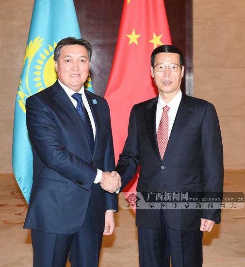 张高丽会见哈萨克斯坦第一副总理马明并出席首届中国-哈萨克斯坦地方合作论坛