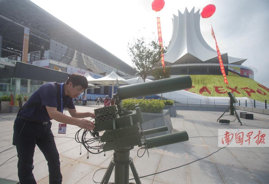 东博会:立体化安保 空中全面巡航持续监控