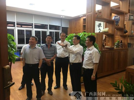 广东省副省长陈云贤考察广西云星集团