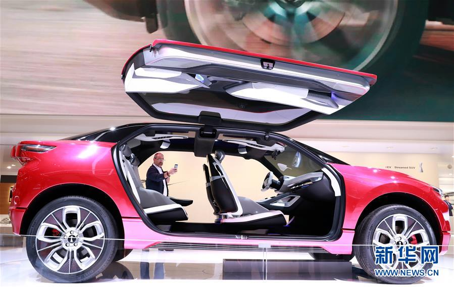 (国际)(1)中国新能源车闪亮法兰克福车展
