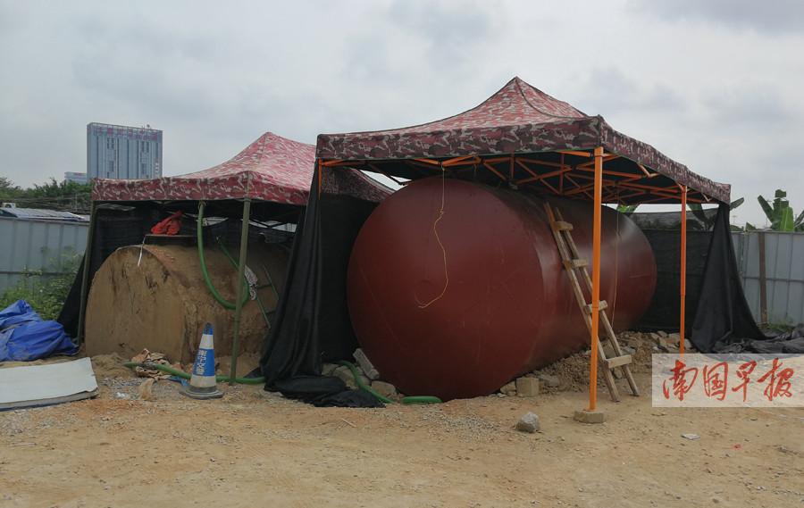 9月21日焦点图:南宁端掉快环边非法加油站