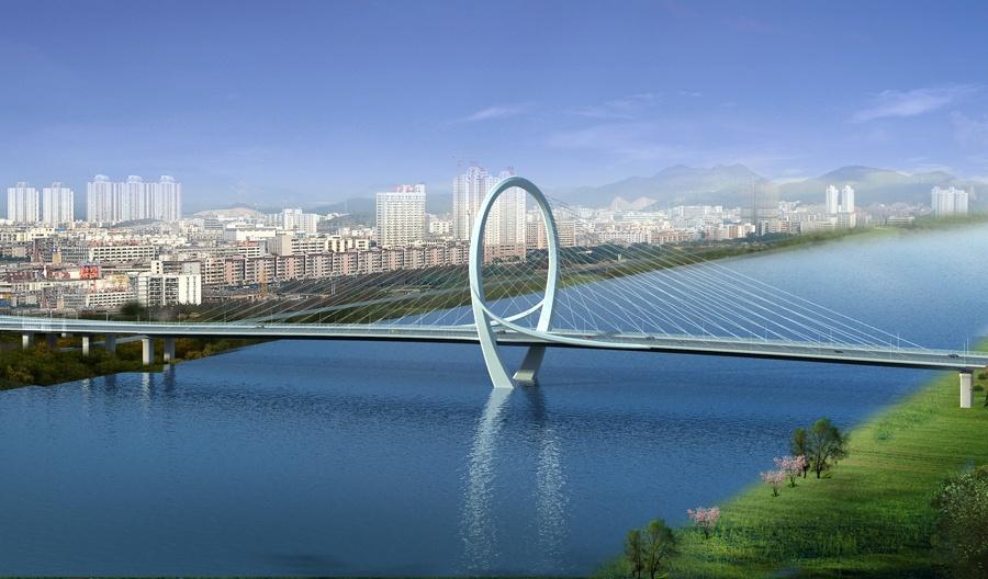 """""""柳州之门""""白沙大桥主桥贯通 整桥预明年8月通车"""