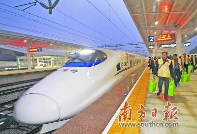 """贵广南广高铁开通近三年:打通铁路运输""""大瓶颈"""""""