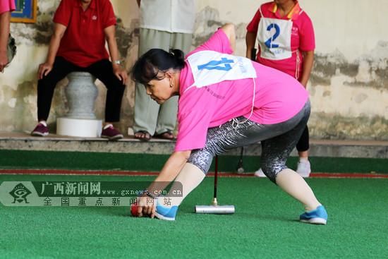 南宁市第8届老年人体育健身大会举行门球交流活动