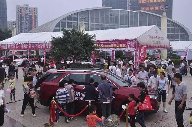 国庆大型车展在玉林市江南公园举办