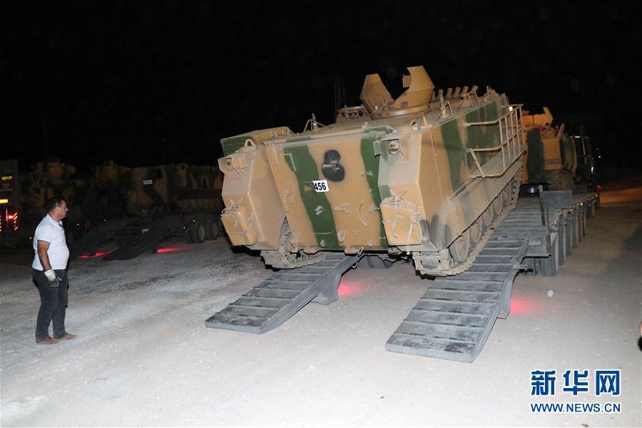(XHDW)(1)土耳其军队向叙利亚境内目标开炮