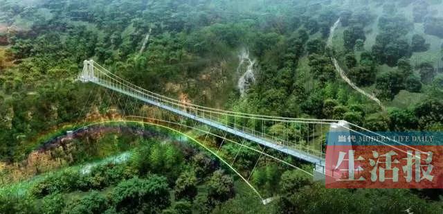 南宁建288米长玻璃吊桥 预计春节前开放体验(图)
