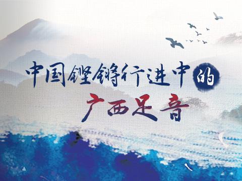 中国铿锵行进中的广西足音