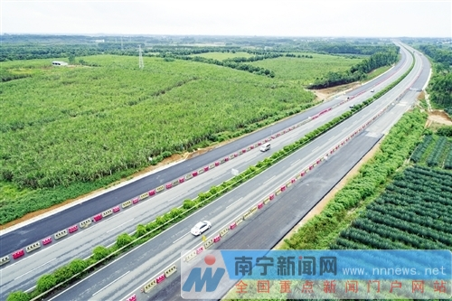 Two-way eight-lane highway on Liunan Expressway will open before Spring Festival