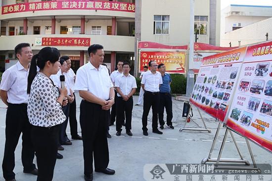 自治区人大常委会副主任杨道喜到河池百色两市调研