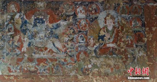 西藏新发现距今约700年的遗存壁画