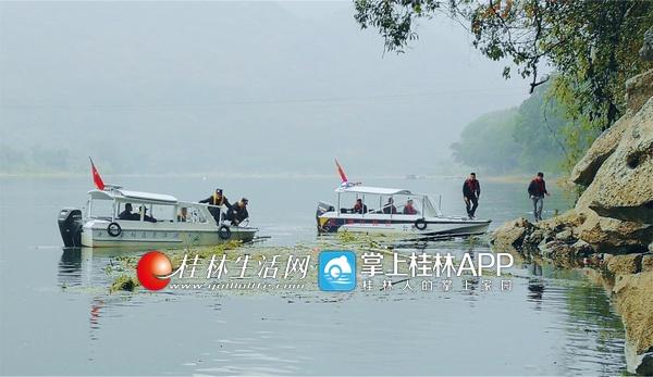 桂林漓江风景名胜区对围栏捕鱼设施进行了集中清理拆除