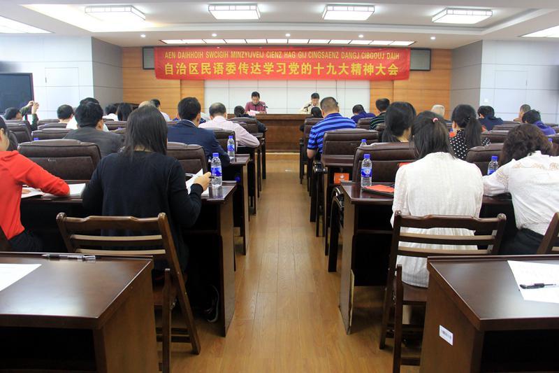 自治区民语委召开传达学习党的十九大精神大会