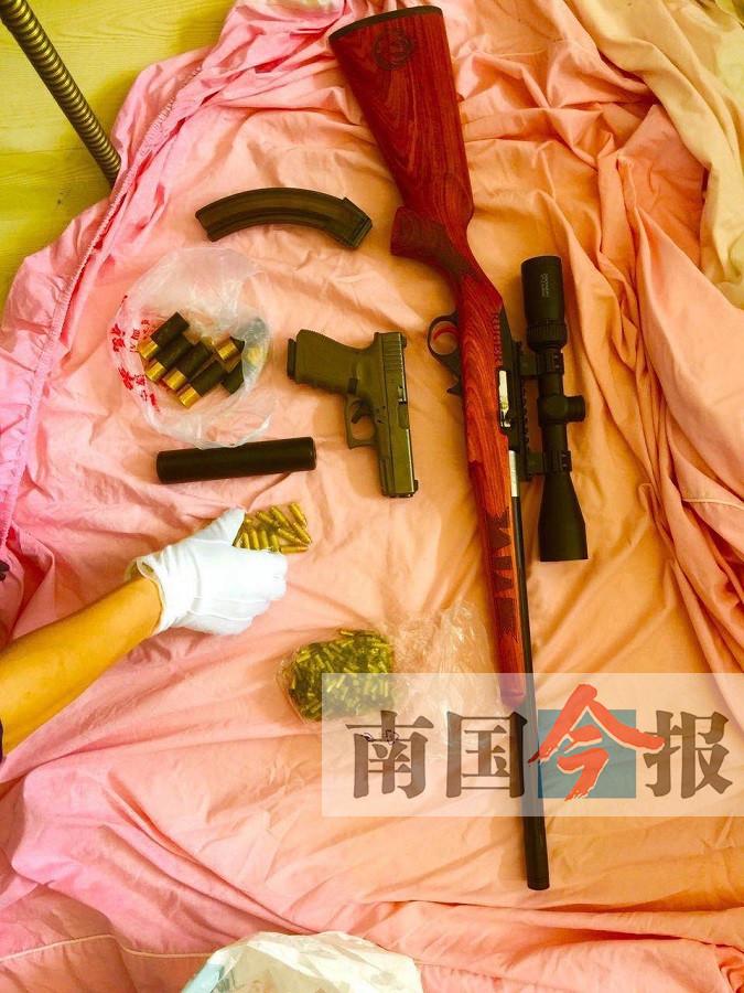 柳州破获特大跨国网络贩枪团伙案 58人落网(图)