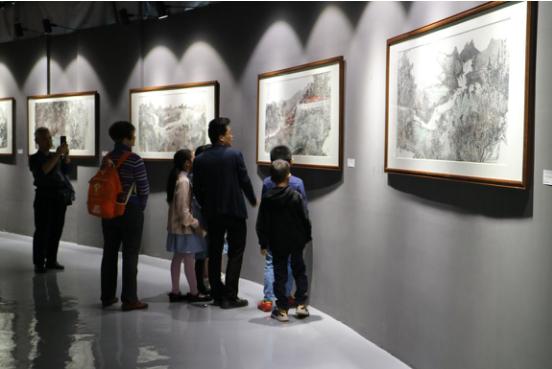 《天陲靖西》国画展在保利开展