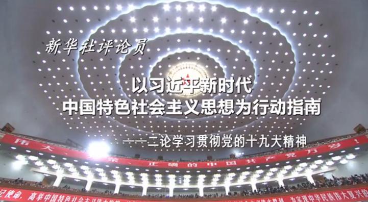 以习近平新时代中国特色社会主义思想为行动指南
