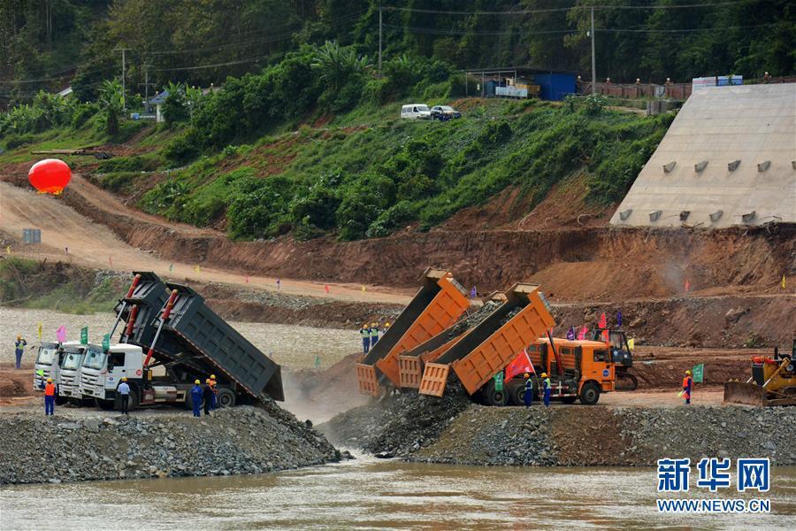 (国际)(1)中国电建实现老挝南欧江水电项目部分截流
