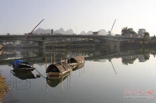 环江三桥正式通车 加快县城东西结合(图)