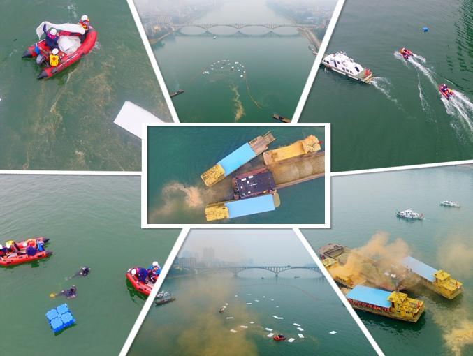 航拍:柳州举行水上搜救综合应急演练