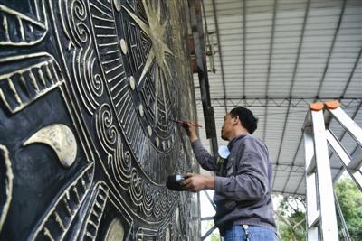 广西铸造世界最大铜鼓已基本完成