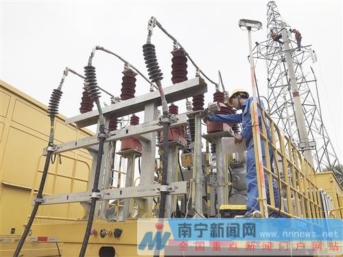 南宁西乡塘区高峰变电站停运升级改造