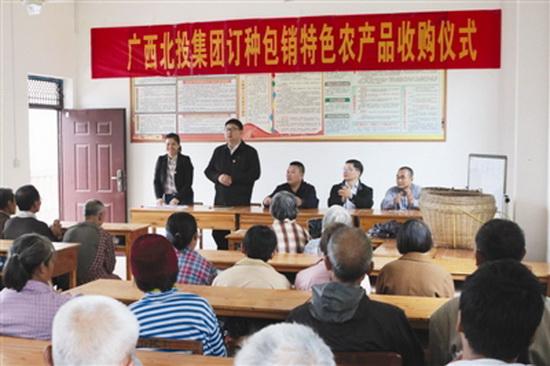 广西北部湾投资集团向大化扶贫户订购特色农产品