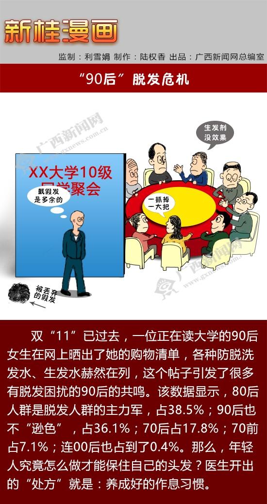 """【新桂漫画】""""90后""""脱发危机"""