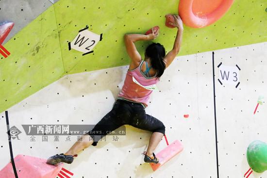 广西:首届攀岩锦标赛收官 发展攀岩条件得天独厚