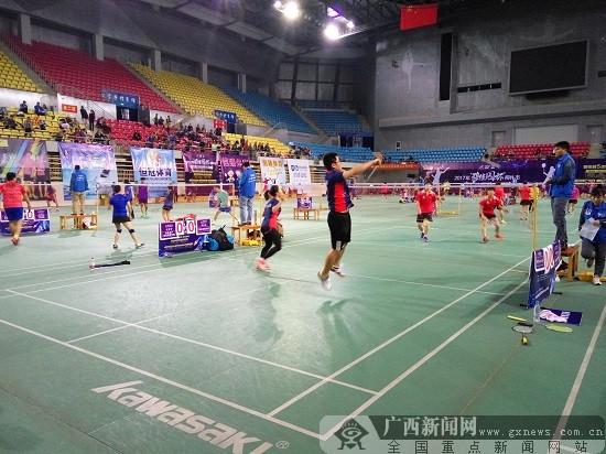 深入贯彻全民健身 柳州市第五届羽超联赛开战